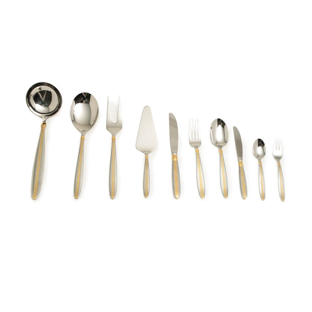 JIMMIE ONE SIDE GOLDPLATED 68PC CUTLERY SET - GL226/GPBX