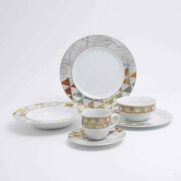 KAROLINA RUSTIK BEIGE 24PC DINNER SET - RUSTBGE/24DS