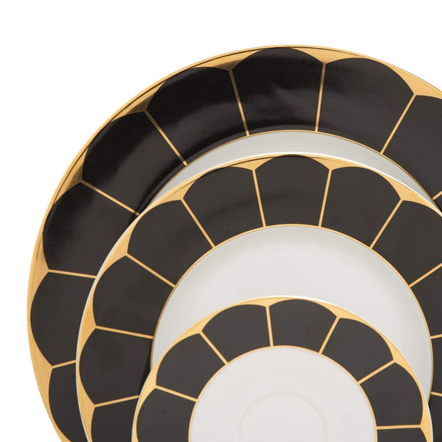 GARLAND GOLD BLACK 24PC DINNER SET - GARGBLK/24DS