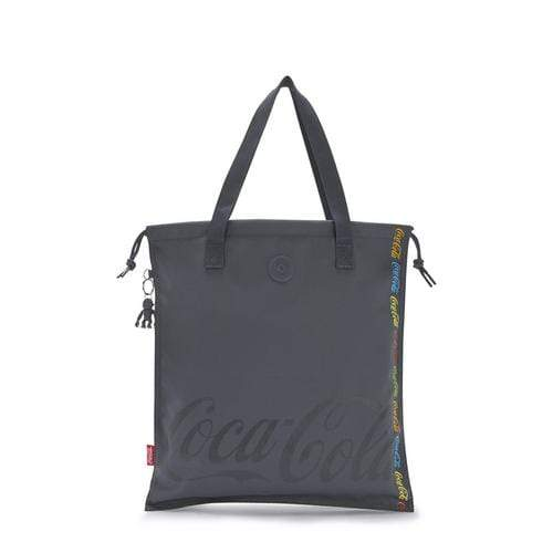 KIPLING-New Hiphurray-Small Foldable Tote with Drawstring-Coca Cola Graphics-I6915-Y32 - I6915-Y32