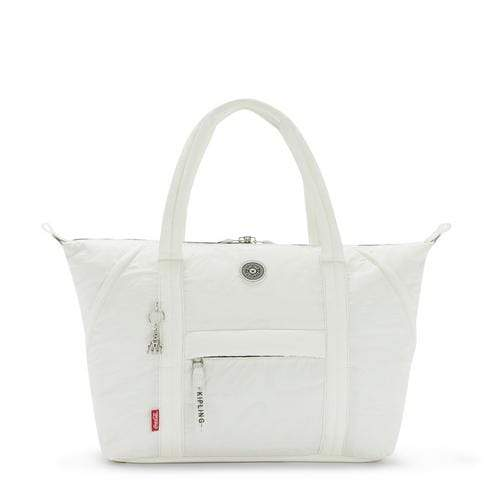 KIPLING-Art M-Large Tote with Trolley Sleeve-Coca Cola Air Grey-I7021-X27 - I7021-X27