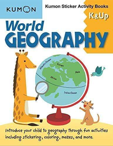 WORLD GEOGRAPHY K & UP STICKER ACTIVITY - Jashanmal Home