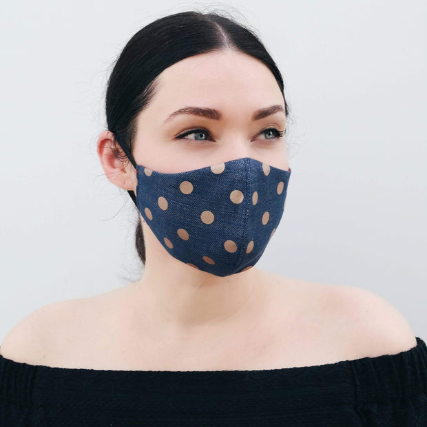 KUOLALYTE GOLD COINS DENIM FACE MASK