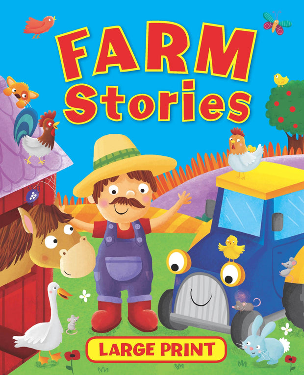 Books LARGE PRINT FARM STORIES-BROWN AND WATSON
