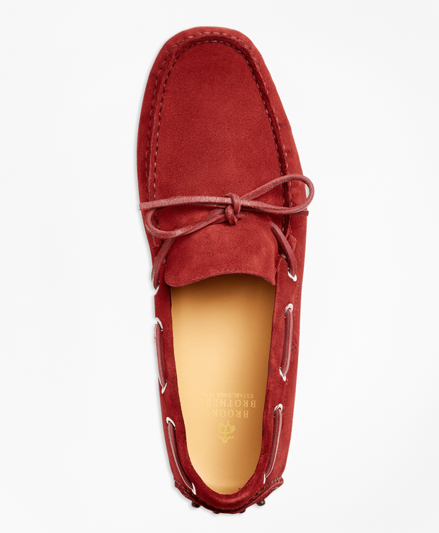 BROOKS BROTHERS SHOE ML SUEDE DRIVER RED - 000100083775 061