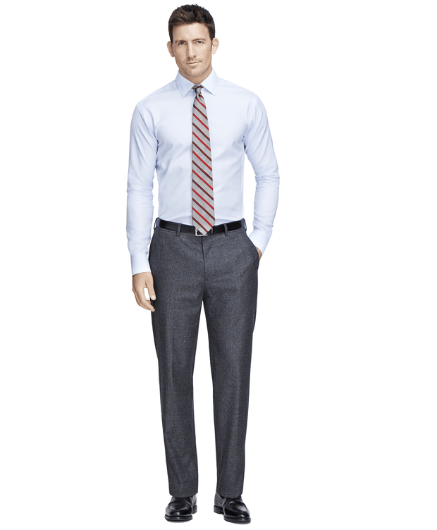 BROOKS BROTHERS MEN'S DRESS PANTS - CHARCOAL- 100000225