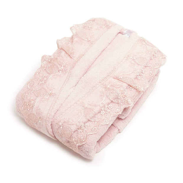 GIZEM 3PC BATHROBE SET PINK - 104-PNK - 104-PNK