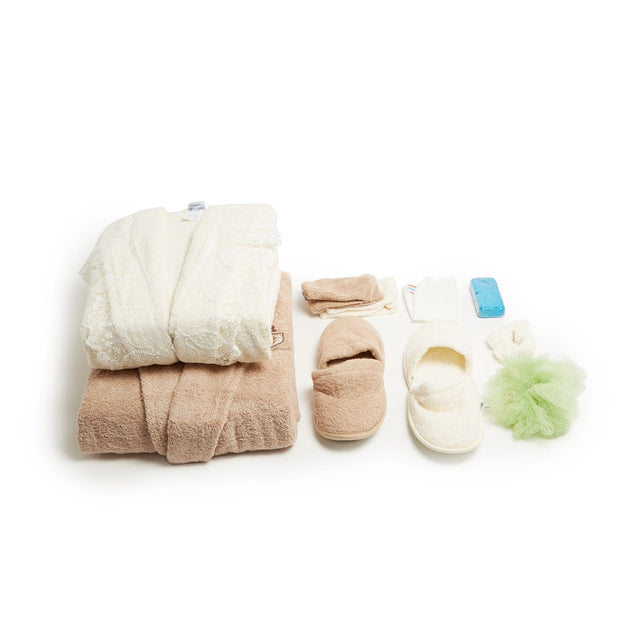 GIZEM 16PC TOWEL BROWN & CREAM - 107-BRN/CRM - 107-BRN/CRM