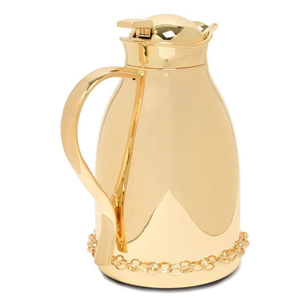 Pantazelos Gold Plated Set Chain Thermos - Gold - Q-1325/GP