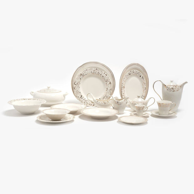 Porland Porselen Bohemian Dinner Set - 85 Piece - 04ALM004205
