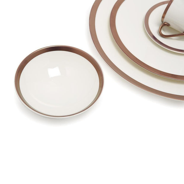 Porland Porselen Copper Line Dinner Set - 30 Piece - 04NEW30 - Jashanmal Home