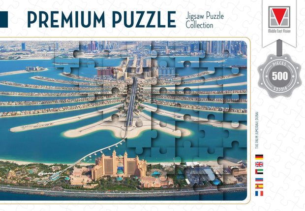 PREMIMUM PUZZLE  THE PALM JUMEIRA DUBAI  500 PCS