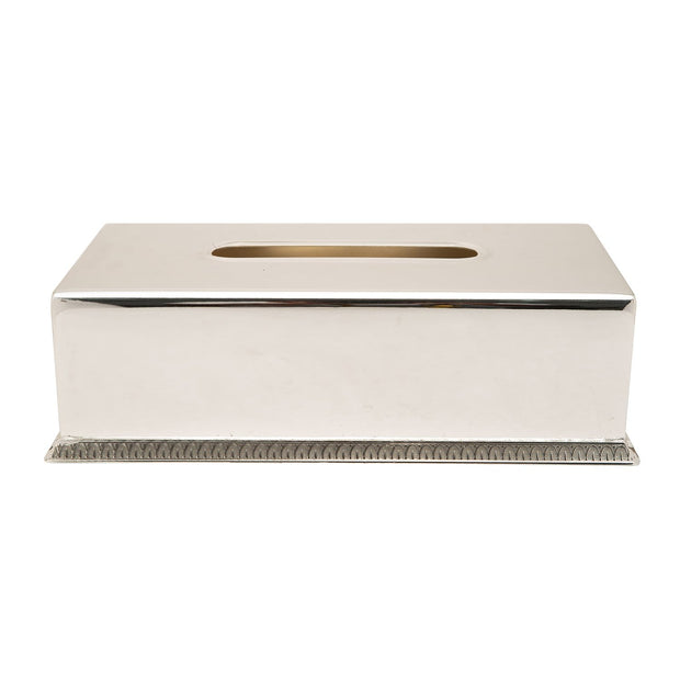 SILVER PLATED TISSUE BOX
