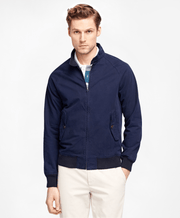 BROOKS BROTHERS OUT CLOTH ZIP JACKET BROOKS NAVY MEN'S CASUAL OUTERWEAR - 100037420