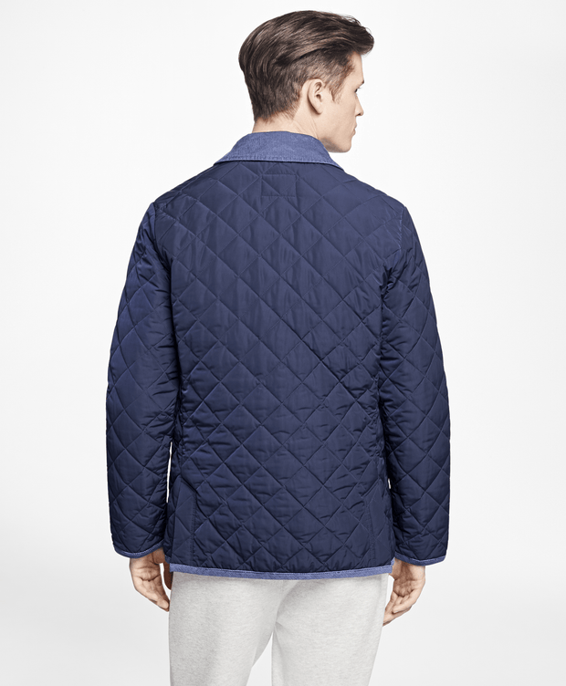BROOKS BROTHERS OUT QUILTED NYLON JACKET NAVY MEN'S CASUAL OUTERWEAR - 100062991