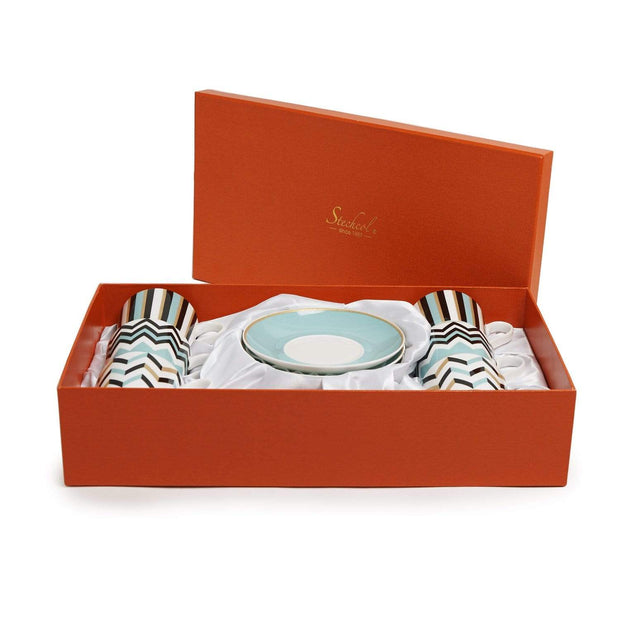 RONA FINE BONE CHINA 12PC COFFEE CUP & SAUCER
