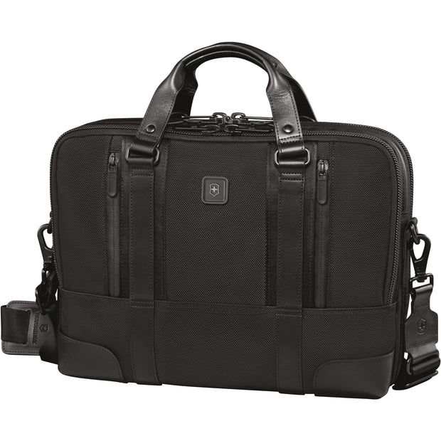 VICTORINOX LEXICON PROFESSIONAL LASALLE 13 SLIMLINE LAPTOP BRIEF CASE WITH TABLET POCKET BLACK - 601111 - Jashanmal Home