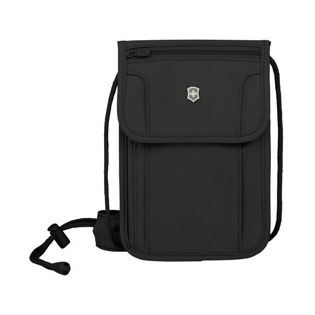 VICTORINOX TRAVEL ACCESSORIES 5.0 DELUXE CONCEALED SECURITY POUCH WITH RFID BLACK - 610603