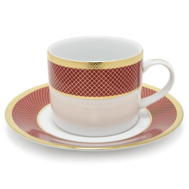 Dankotuwa Cherie Tea Cup and Saucer Set - 12 Piece - CHER-687/689 - Jashanmal Home