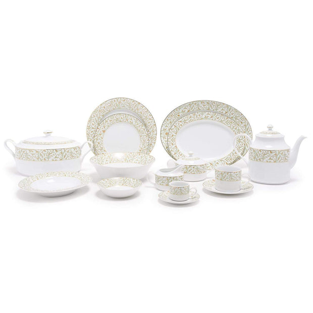Dankotuwa Laryn Gold Dinner Set - 83 Pieces - LRYNGLD-83DS