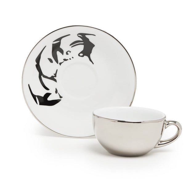 PENGUIN 6+6 COFFEE COFFEE CUP & SAUCER IN GIFT BOX