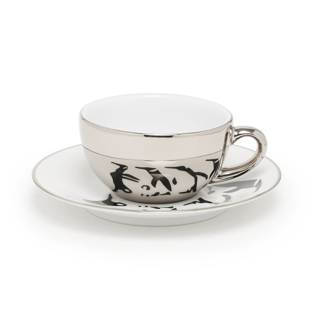 PENGUIN 6+6 COFFEE CUP & SAUCER IN GIFT BOX