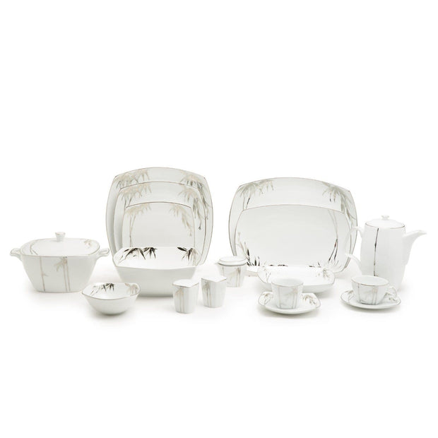 Dankotuwa Bamboo Silver Aurora Dinner Set - 98 Pieces - BAM-DS/98S