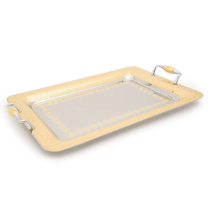 Brignani Geometrico Gold Rectangle Tray - 40 x 28 cm - RO-1400/2/GEO-G - Jashanmal Home
