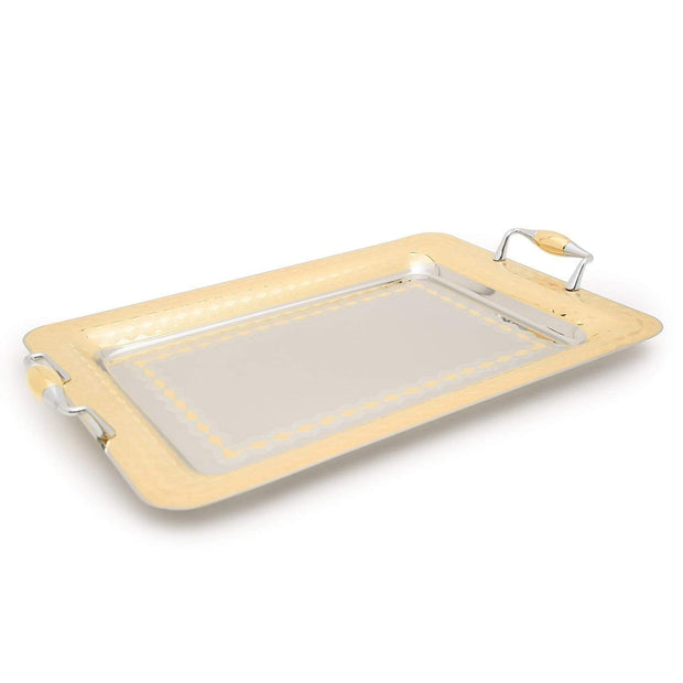 Brignani Geometrico Rectangle Tray - Gold, 45 x 31.5 cm - RO-1400/3/GEO-G - Jashanmal Home
