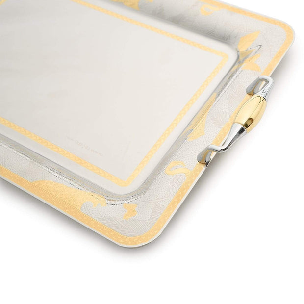Brignani Lux Kingdom Rectangle Tray - Gold, 50 x 35 cm - RO-1400/4/LUX-G - Jashanmal Home
