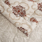 VEGORA PRINTED MICROFIBER 1851517 STANTON COMFORTER 4PC SET SINGLE - 18062434