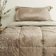 VEGORA JACQUARD MARGUTTA COMFORTER 4PC SET SINGLE - 18082609