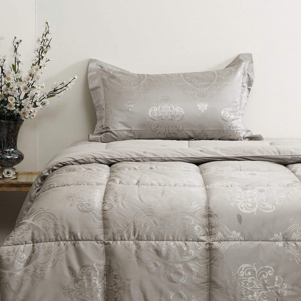 VEGORA JACQUARD MASCAGNI COMFORTER 4PC SET SINGLE - 18087703
