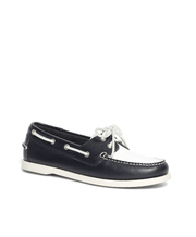 BROOKS BROTHERS SHOE BOAT BLK/WT - 100029744