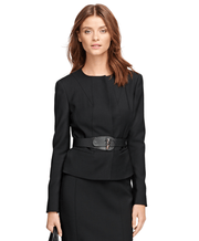BROOKS BROTHERS SEP JKT WV EA LS BLK WOMEN'S JACKETS - 100038690