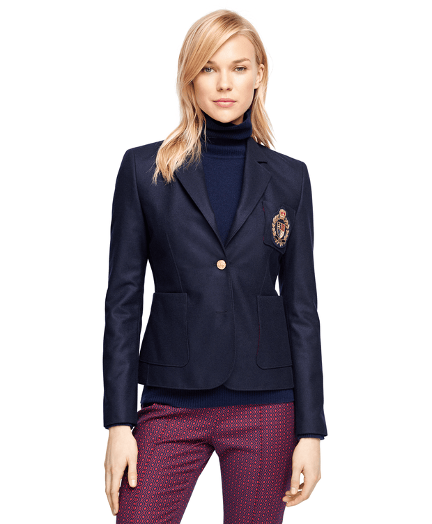 BROOKS BROTHERS SEP JKT WO 2B LS STEL CREST BARBERIS 504 WOMEN'S JACKETS - 100039733