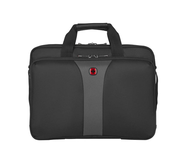 WENGER LEGACY 16 DOUBLE-GUSSET COMPUTER BRIEFCASE BLACK/GREY - 600648