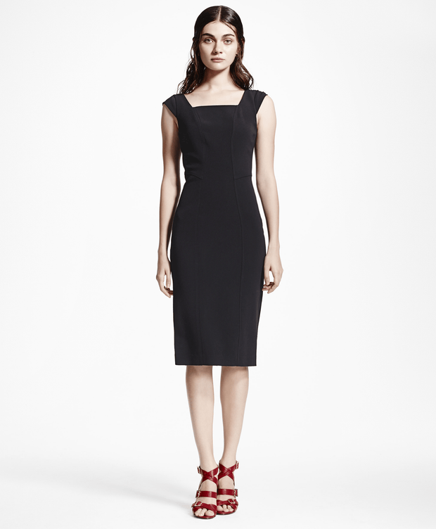 BROOKS BROTHERS SEP DRS VI AC CAP JET BLACK WOMEN'S DRESSES - 100051228