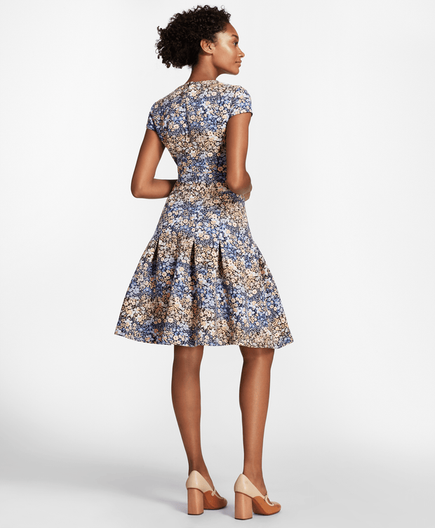 BROOKS BROTHERS SEP DRS PES CO VNCK ALINE SS FLORAL JACQUARD WOMEN'S DRESSES - 100095687