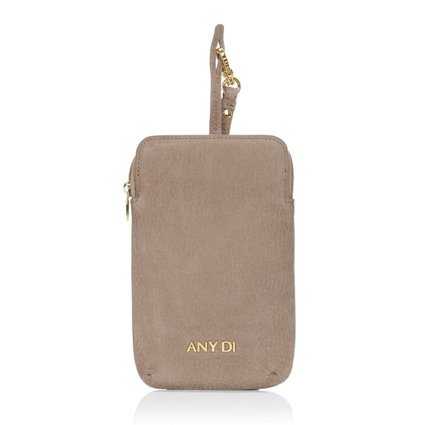 Any Di Cowhide Leather Pouch - Greige Nubuck - HC101503-GN - Jashanmal Home
