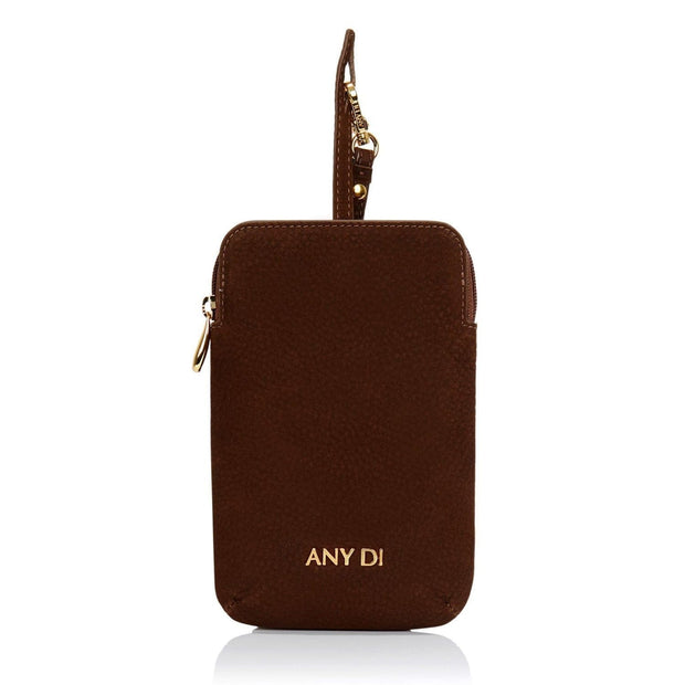 Any Di Cowhide Leather Pouch - Tiramisu - HC101503-TS - Jashanmal Home