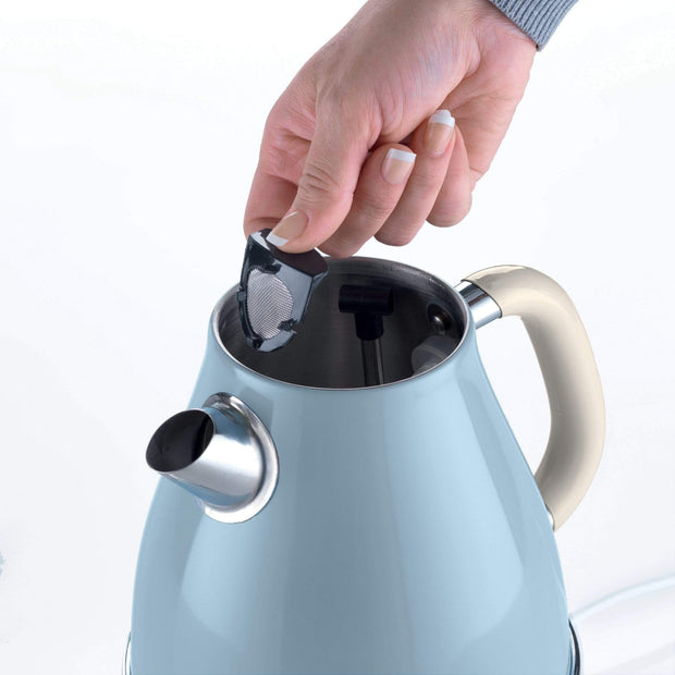 ARIETE VINTAGE KETTLE 1,7L, CREAM/BLUE, 2869