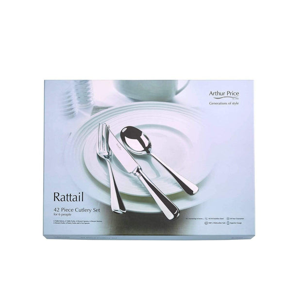 Arthur Price Rattail Stainless Steel Cutlery Set - 42 Piece - ZRIS4201 - Jashanmal Home