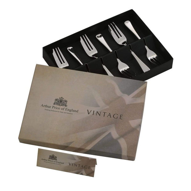 Arthur Price Vintage Stainless Steel English Cake Forks - 6 Piece - VISS0131 - Jashanmal Home