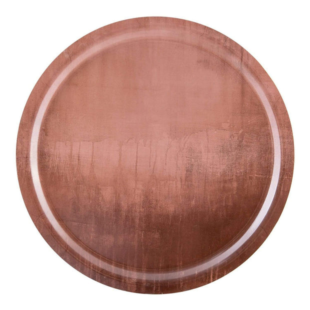 Ary Home Serenity Rose Dawn 49 Round Tray - Brown, Large - 300649-443 - Jashanmal Home