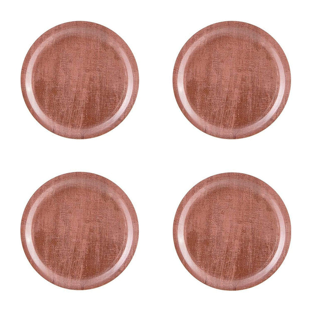 Ary Home Serenity Rose Dawn 11 cm Round Coaster - Brown, Set of 4 - 300210B-443 - Jashanmal Home