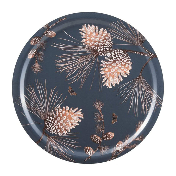 Ary Home Pine Cone Thunder Round Tray - Multicolour, 49 cm - 300649-428 - Jashanmal Home