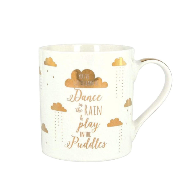 Ashdene My Metallic WG Dance Mug - White and Gold - 516550 - Jashanmal Home