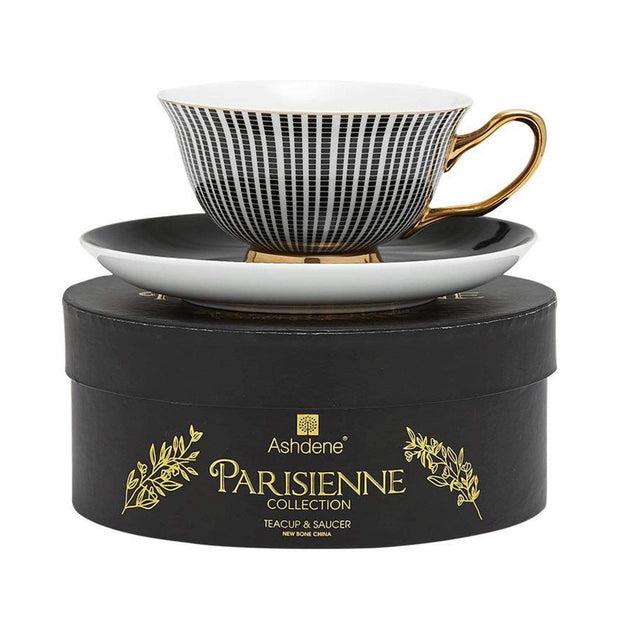 Ashdene Parisienne Cup and Saucer Set - Black - 517558