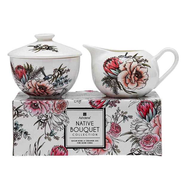 Ashdene Native Bouquet Sugar Bowl and Creamer Set - 517244 - Jashanmal Home
